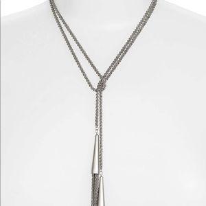 Kendra Scott Phara Tassel Lariat necklace silver